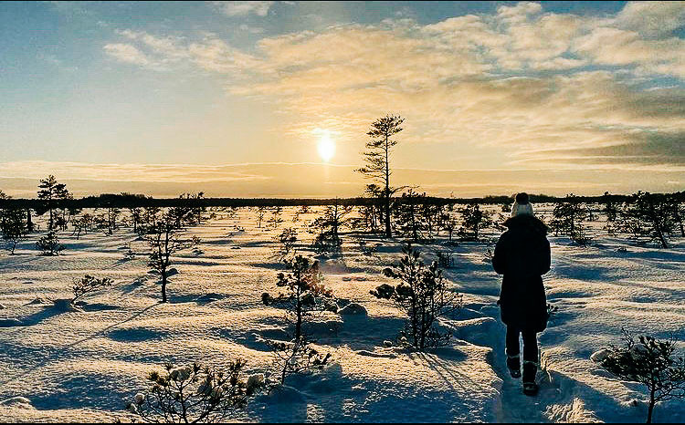Emily Herd, 2020 Fulbright finalist, spends time in the Koigi Raba nature preserve as part of her Fulbright experience in Estonia.