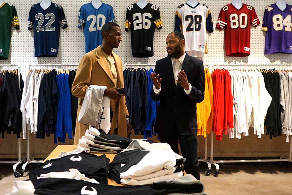 Meeting with sport apparel executives.
