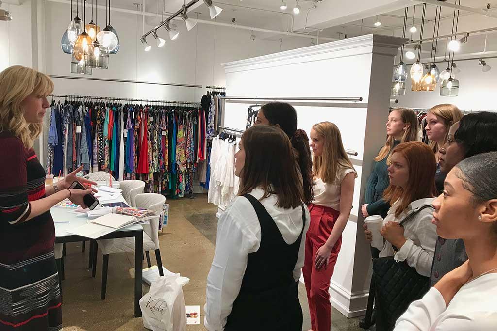 Touring Cupio and Cupio Blush headquarters in NYC with retailing alumna Sara Wingate Bako.