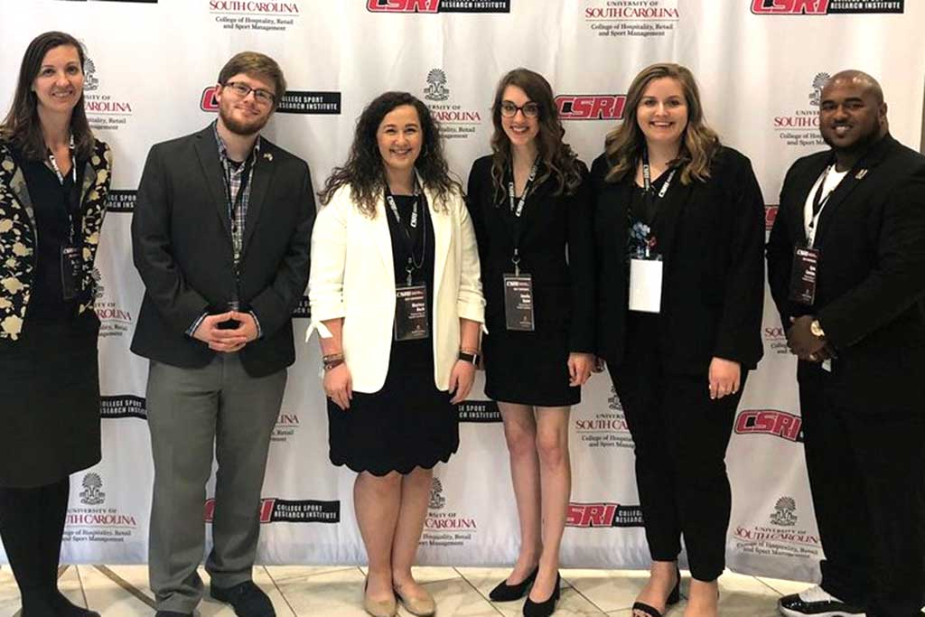 SPTE students compete in an annual research case competition as part of the CSRI Conference on College Sport.