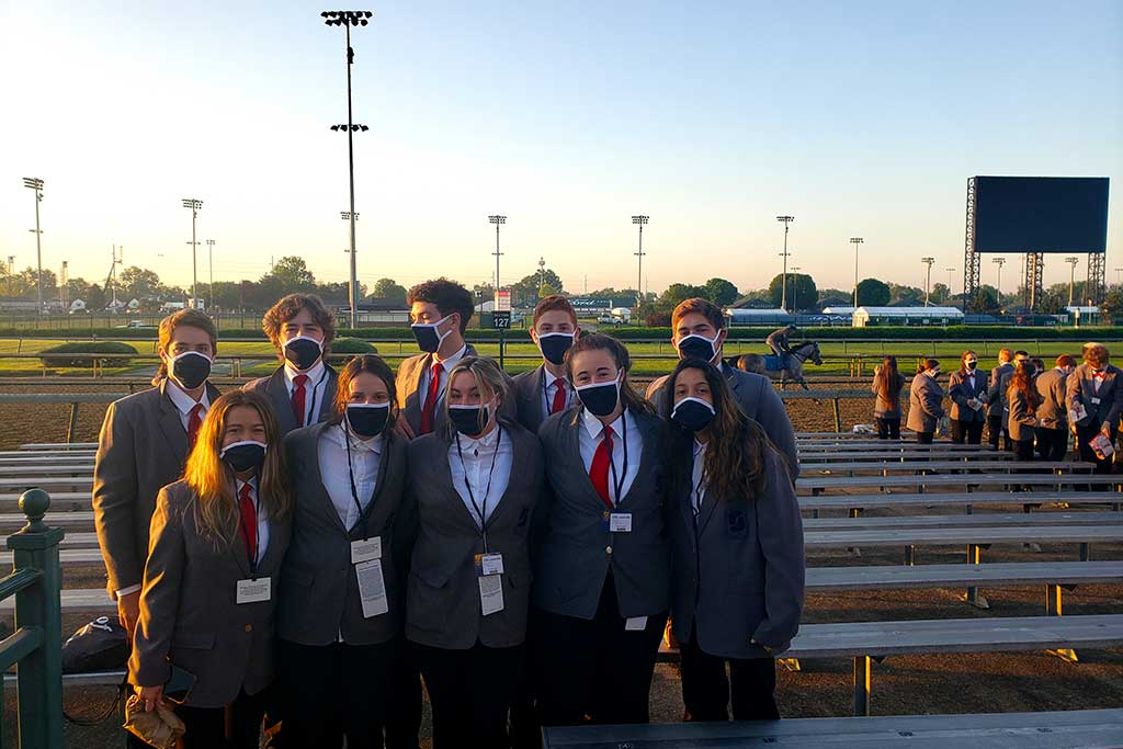 Sport and entertainment management students were trackside at the 2021 Kentucky Derby gaining valuable sport and event management experience.