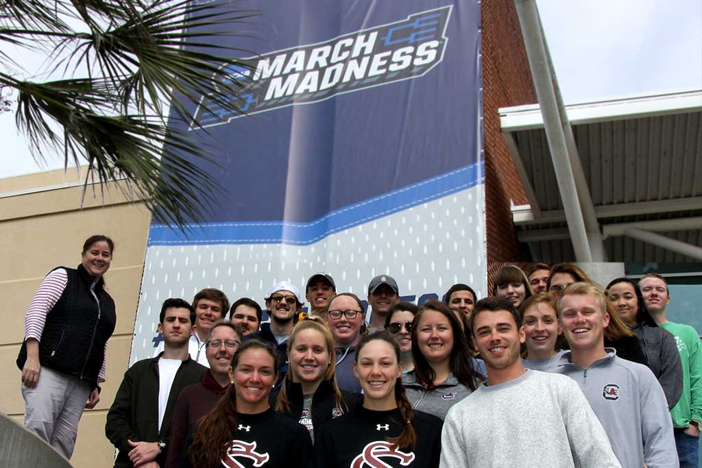 Students learned outside the classroom when UofSC hosted March Madness in 2019.