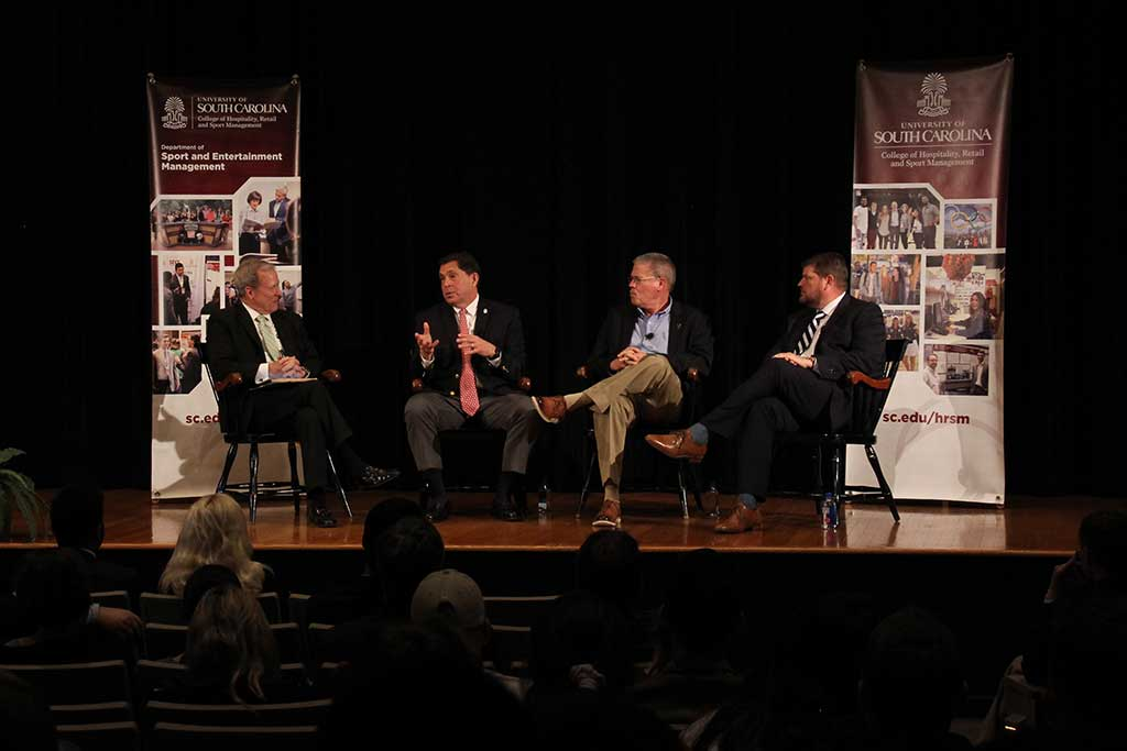The Regan Lecture Series brings top executives to campus to share insights on sport and entertainment industry trends and innovation.