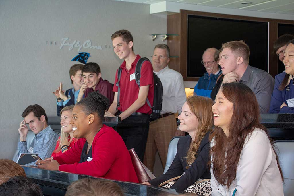 Students spent the day learning from the pros with the Carolina Panthers at Bank of America Stadium in Charlotte, NC.