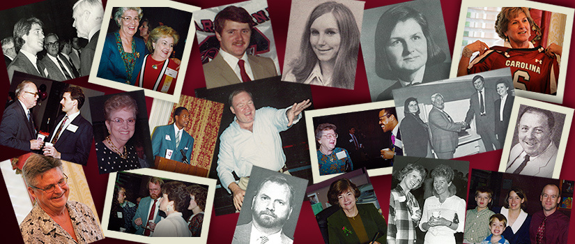 Historic photo collage featuring various people associated with the program.