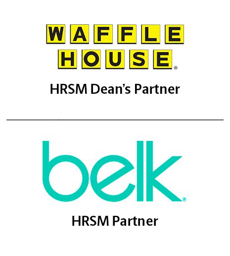 Thank you to HRSM Corporate Partners Waffle House and Belk: Waffle House and Belk corporate logos