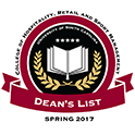 Congratulations to College of HRSM students who made the spring 2017 Dean's and President's Lists