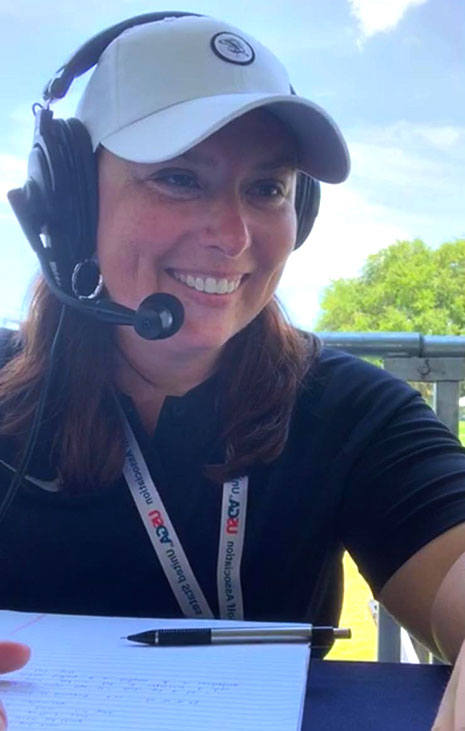 Taylor Meredith, College of HRSM sport and entertainment management alumna commentated the U.S. Women's Open golf tournament