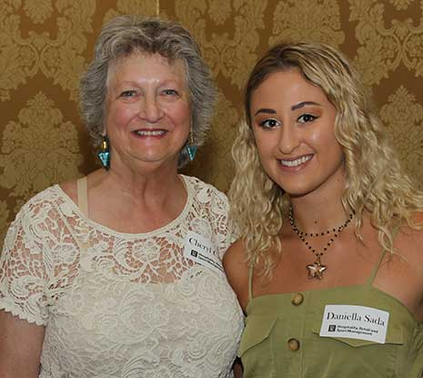 Cheryl Carroll, Craig Kelly Memorial Scholarship donor, with recipient Daniella Sada.