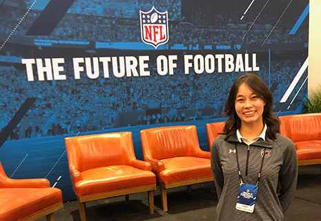 Khajana O was one of 40 young women chosen nationally to attend the NFL Women's Careers in Football Forum in February