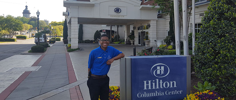 Dashon Murray interns with the Hilton Columbia.