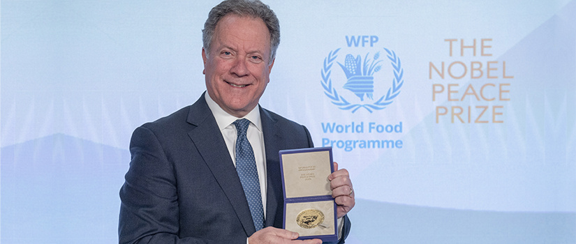 David Beasley accepting Nobel Peace Prize