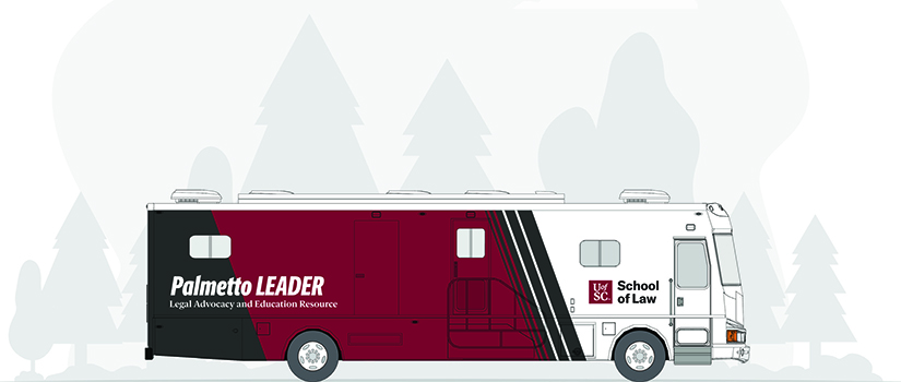 rendering of the Palmetto Leader, a mobile law office