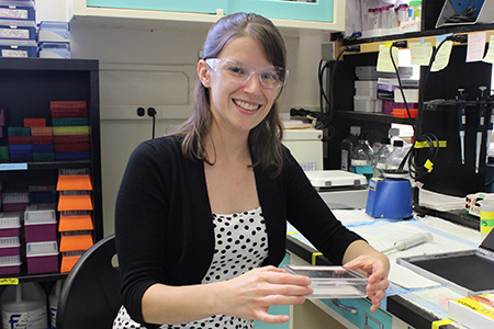 Allison Manuel in a lab.