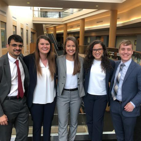 Five UofSC Master of Human Resources students who won the Purdue University case competition