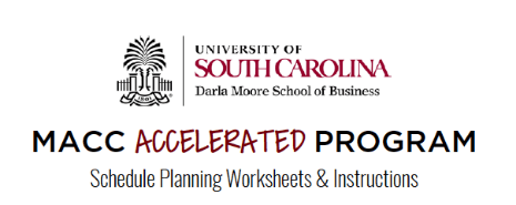 MACC Accelerated course planning worksheet