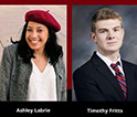 Ashley Labrie and Timothy Fritts headshots
