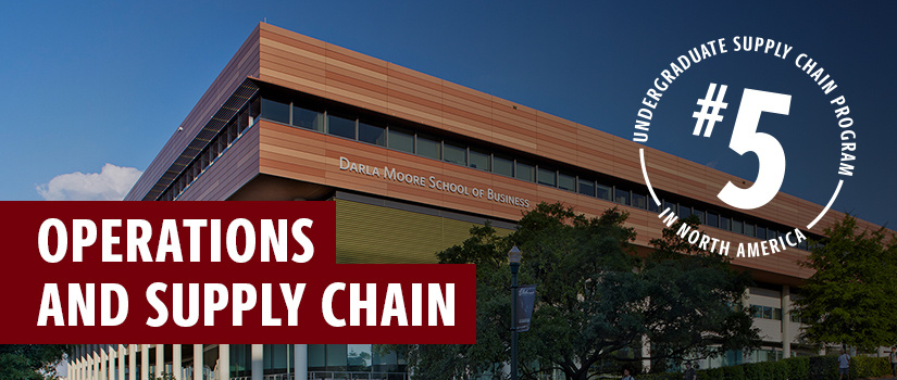 Operations and Supply Chain No. 5 undergraduate supply chain program in North America