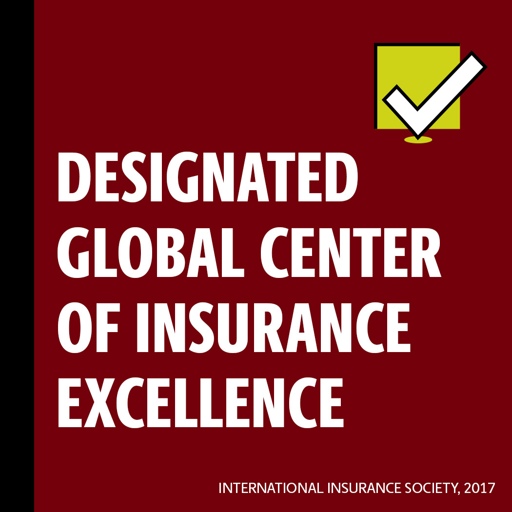 Designated Global Center of Insurance Excellence International Insurance Society, 2017