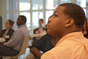 A student listening attentively at the BB&T Emerging Leaders Certification Seminar
