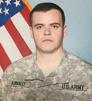 Brian Kinally in his Army uniform