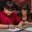 Music scholarship students get their own signing day
