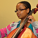 Cello lesson with student