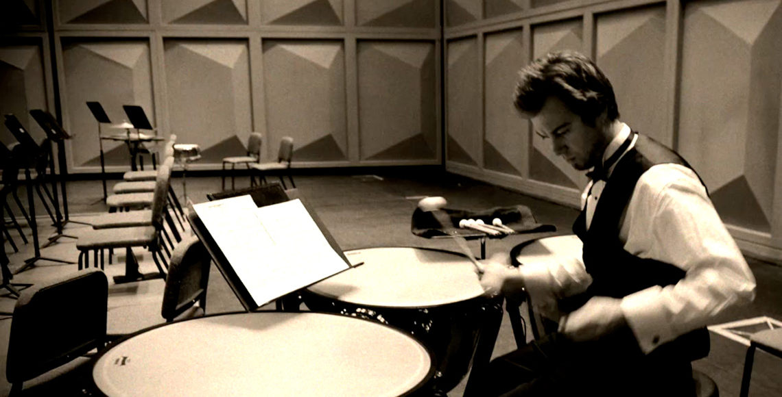 Percussionist in Koger Center for the Arts