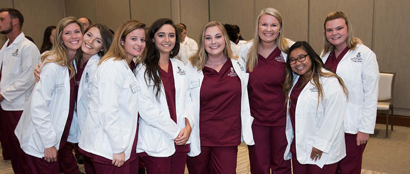Gabi Amster and friends at stethoscope ceremony