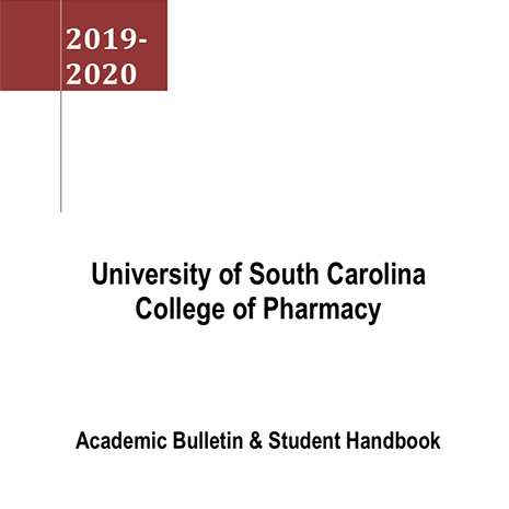 UofSC College of Pharmacy Academic Bulletin