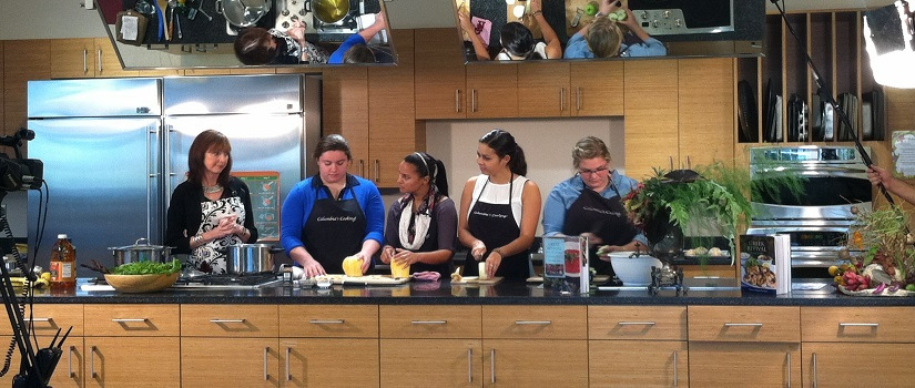 Taping of Columbia's Cooking show