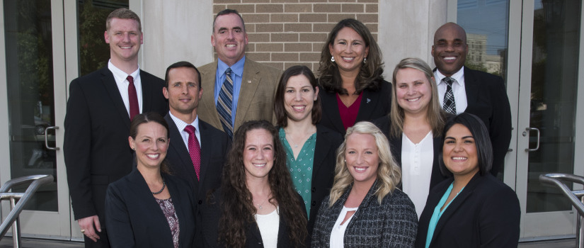 Athletic training faculty and staff members posing