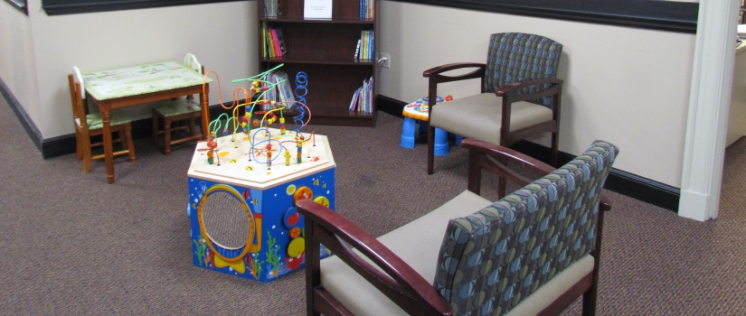 Waiting room with children's toys