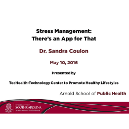 Sandra Coulon Stress Management: There's an app for that lecture video image