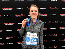 photo of michelle with race medal