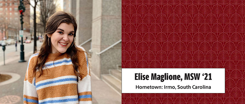 Master of Social Work student Elise Maglione