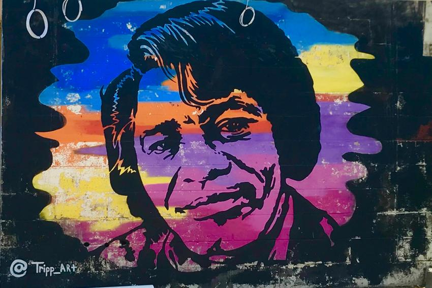 Mural of famous South Carolinian, James Brown