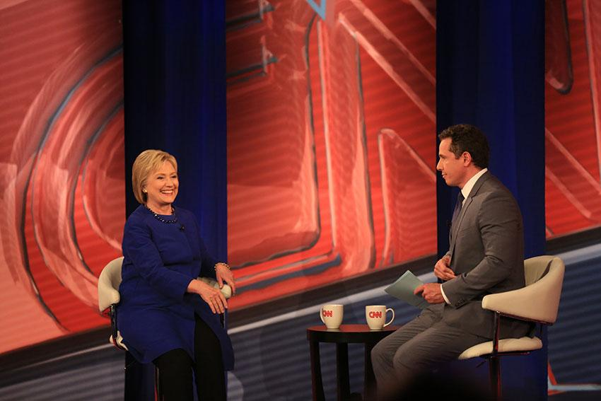 Hillary Clinton sits down with Chris Cuomo during CNN's town hall event.