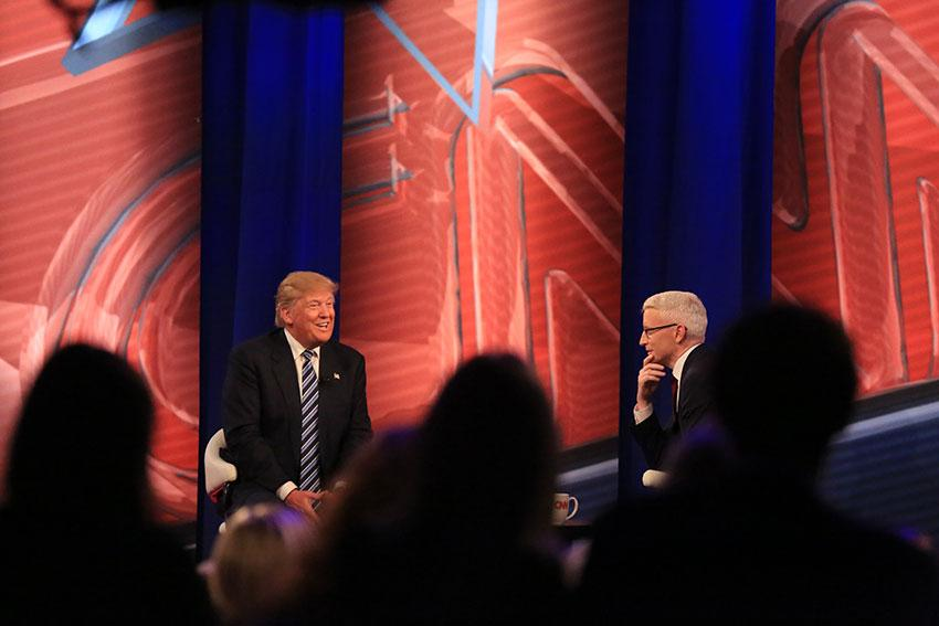 Presidential candidate Donald Trump sits down with Anderson Cooper.