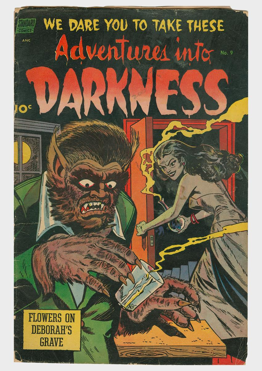 Adventures into Darkness comic book cover