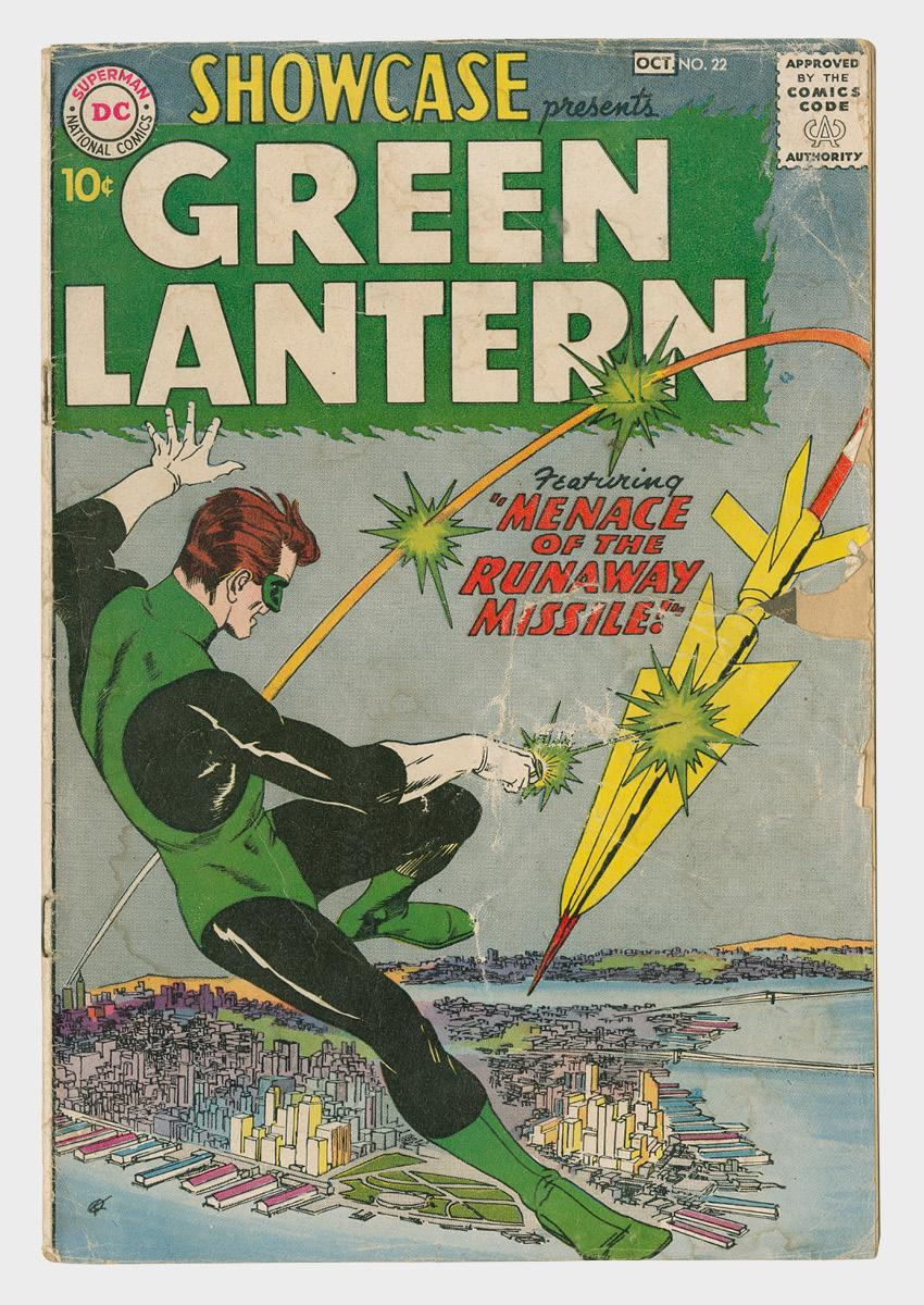 Showcase Green Lantern comic book cover