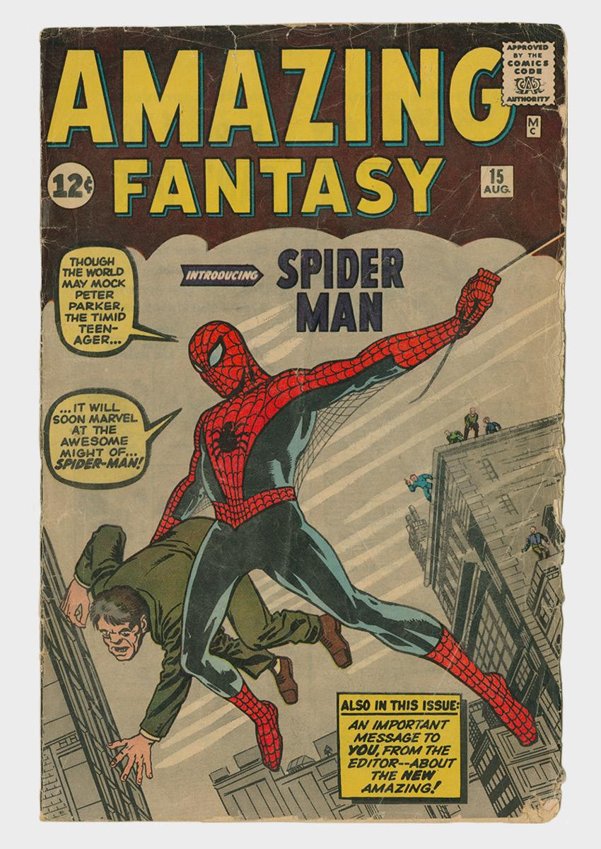 Amazing Fantasy comic book cover