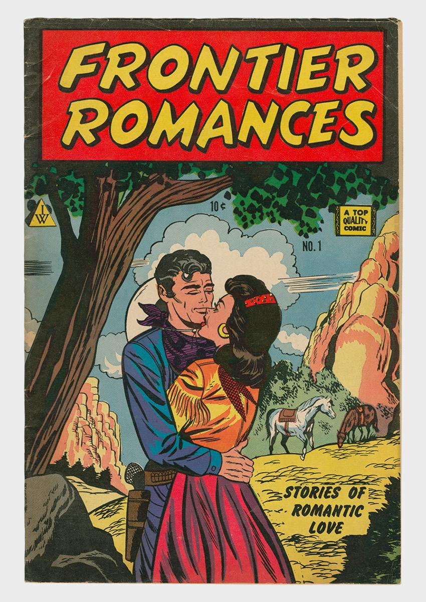 Frontier Romances comic book cover