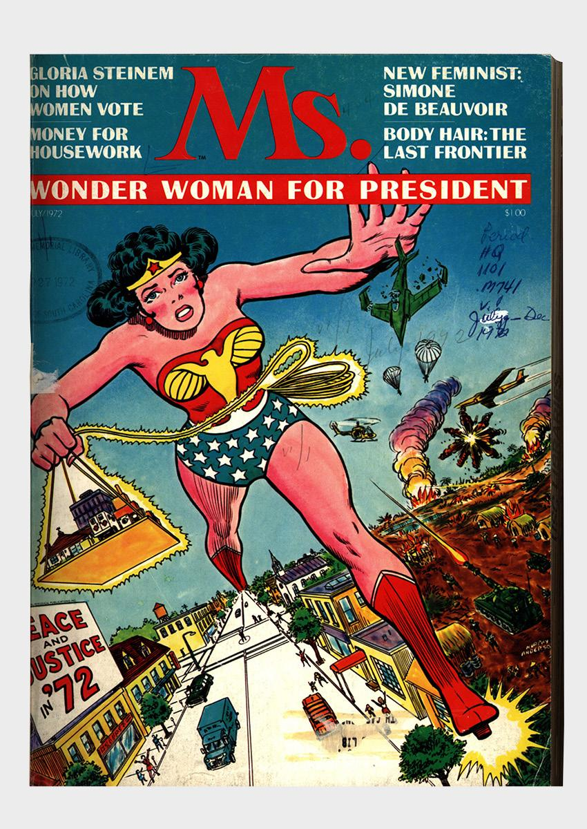 Ms. Wonder Woman for President comic book cover