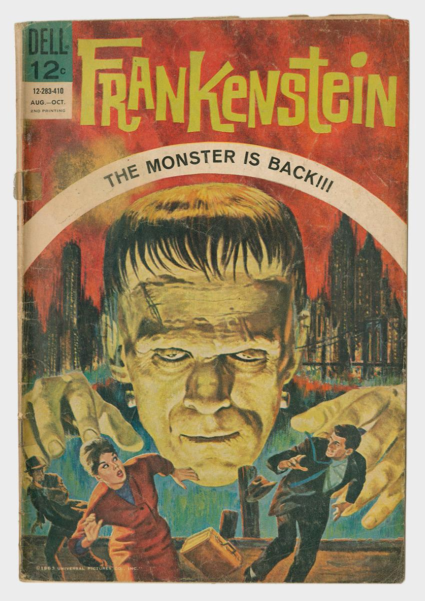 Frankenstein comic book cover