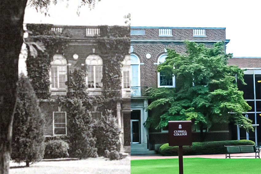 The left image is the left half of Currell College and the right image is the right half of Currell.