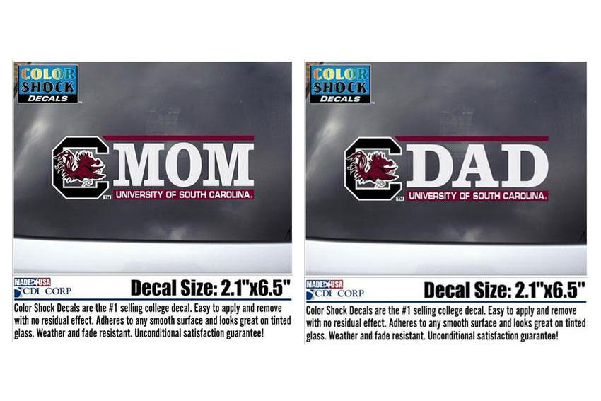 For the parents: Let your parents brag about you with these mom and dad car stickers.