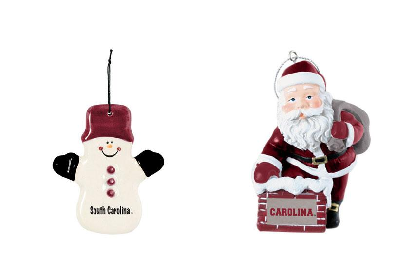 For the extreme decorator: If you know someone whose entire living space completely transforms during the holiday season, these Carolina ornaments will be a wonderful addition to their elaborate tree.