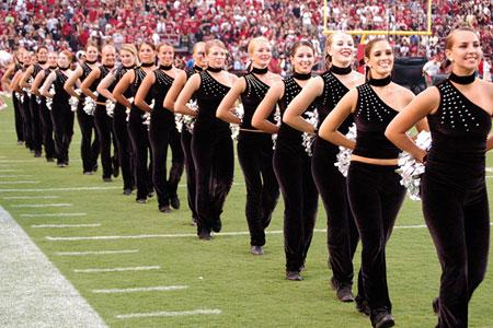 The 1990 Coquettes, the Marching Band's dance team