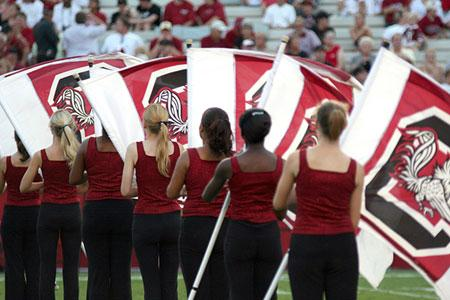 2007 color guard of the marching band